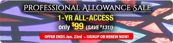Professional Allowance Sale - Save $131!